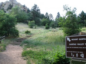 Dog walking route in Boulder at Mt. Sanitas