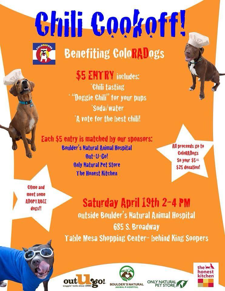 Chili Cookoff fundraiser to benefit ColoRADogs!