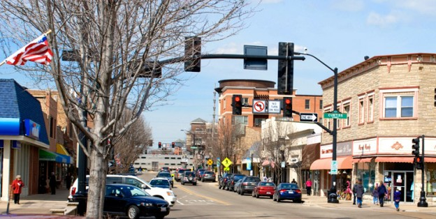One of our favorite dog walking routes in Downers Grove is through downtown!