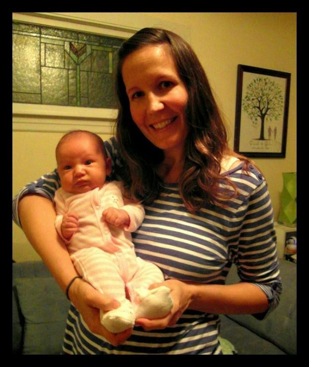 Former Head Oak Park Dog Walker Sarah E with baby Marley
