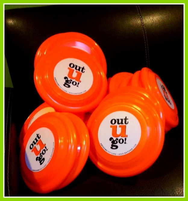 Out-U-Go! Madison Pet Care Frisbees from Fetch Rescue WI Event